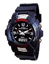 A Avon Dual Time Analog Black Dial Men's Watch - 1001536