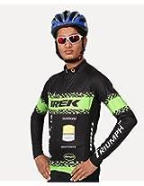 Triumph Firefox Pro Men's Polyester Cycling Jersey Charcoal (XXL)