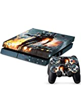 Mod Freakz Ps4 Console And Controller Vinyl Skin Decal Fighter In Rain Fire
