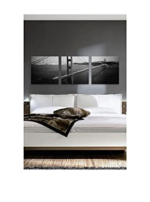 San Francisco Panoramic Giclée Canvas Print Triptych