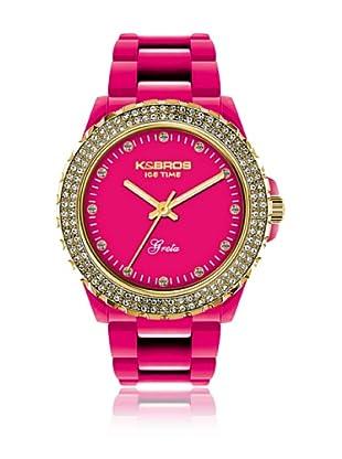 K&Bros  Reloj 9552 (Fucsia)