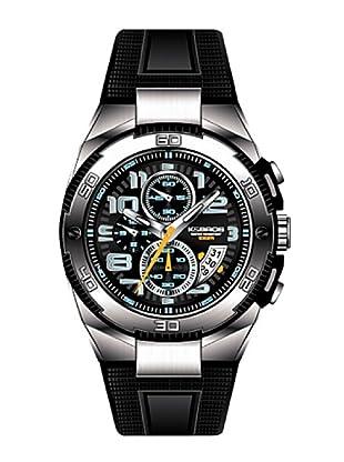 K&BROS 9479-1 / Reloj de Caballero  con correa de caucho Negro