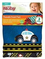 NUBY Reusable Snack Bag, Cars