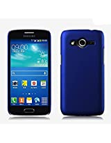 Generic Rubberised Hard Case Back Cover for SAMSUNG GALAXY CORE 2 SM-G355H - BLUE
