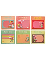 Little Talk removable Adhesive paper sticky notes Set of 6 By Mothersstop