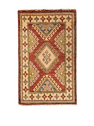 RugSense Alfombra Kazak Beige/Rojo/Multicolor 94 x 62 cm