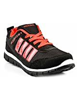 Provogue Black And Red Men Sports Shoes PV1059