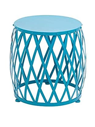 Metal Accent Table, Blue