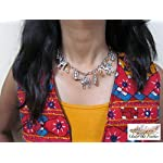 Under the Feather Charm Necklace- Silver Camel and Lantern