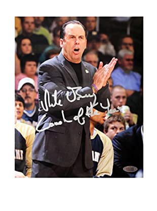Steiner Sports Memorabilia Mike Brey Yelling On The Sidelines