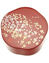 Kotobuki Japanese Lacquer Box, Red, Small