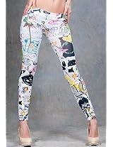 White Printed Legging