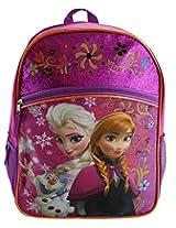 Disney Frozen Princess Elsa & Anna Backpack, Large 16 Inch School Bag, New Licensed Design