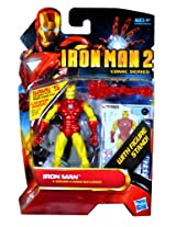 Hasbro Year 2010 Iron Man 2 Comic Series 4 Inch Tall Action Figure Set #28 Classic Armor Iron Man With Pointy Mask, Snap On Red Repulsor Blast, Blast Off Base, Figure Display Stand Plus 3 Armor Cards