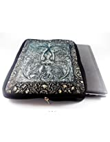 Devarshy Digital Print Limited Edition 17 Inch Computer Quilted Laptop Pouches - Silver Engravings