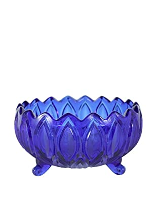 Mid-Century Modern Footed Candy Dish, Blue