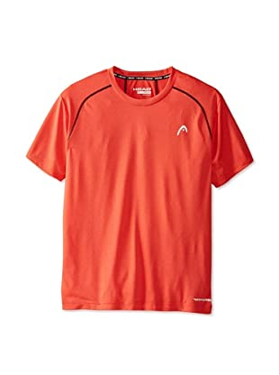 HEAD Men's Net Hypertek Crew Shirt (Flame Heather)