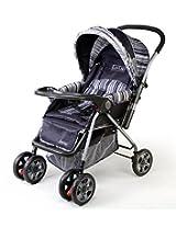 LuvLap Baby Stroller Pram Comfy Deep Grey