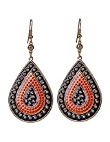 Saadi Gali Brass Dangle & Drop Earring For Women ( Orange )