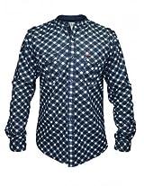 Spykar Dark Blue Casual Wear Shirt