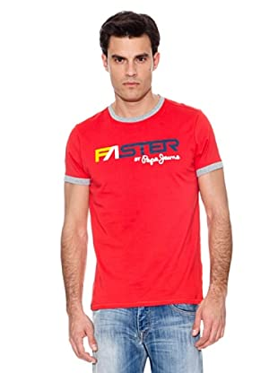 Pepe Jeans T-Shirt Graining (Rot)