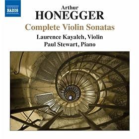Honegger: Complete Violin Sonatas