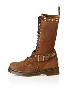 Dr. Marten's Women's Janice Motorcycle Boot (Dark Brown)