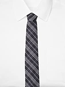 French Connection Men's Reef Check Tie (Gunmetal/Black/Smog)