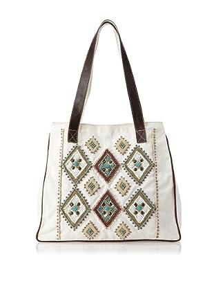 Mare Sole Amore Women's Diamond Tote Bag (White)