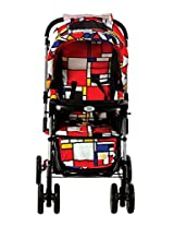 Mee Mee Fully Canopied Pram Cum Rocker (Red Printed)