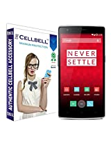 Cellbell Premium Tempered Glass Screen Protector for One Plus One(2.5D Curved Edges)(Clear)(Comes with Warranty)Complimentary Prep cloth