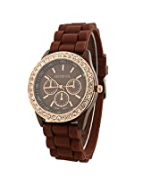 Geneva Brown Dial analog Watch for Women (g9532_D)