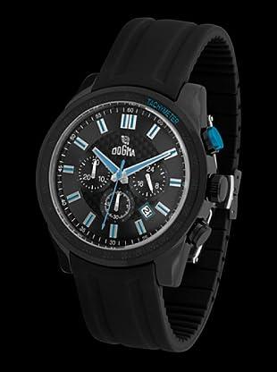 Dogma CRONO294 - Reloj de Caballero movimiento de quarzo con correa de caucho azul