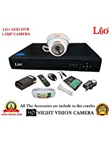 AHD LIO 4CH DVR + AHD 1.3 Megapixel High Resolution LIO 36IR DOME CAMERA 1pcs + 1 TB WD HDD + CABLE 3+1 COPPER + POWER SUPPLY (FULL COMBO)