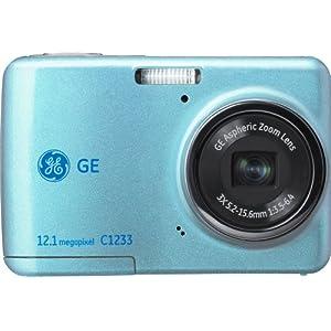 GE C1233 デジタルカメラ ブルー DGP2012金賞受賞モデル 高感度ISO1600 高画質12.1メガ 手ブレ軽減 乾電池対応 C1233JBL