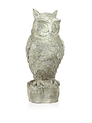 Urban Trends Collection Fiberstone Owl on Tree Stump