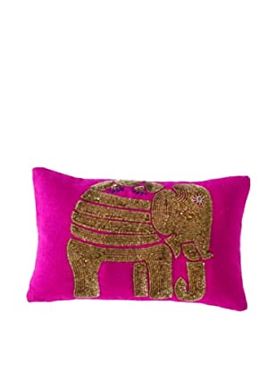 Shiraleah Caravan Elephant Pillow (Pink)