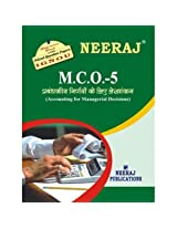 MCO5-Accounting for Managerial Decisions. IGNOU help book in Hindi Medium