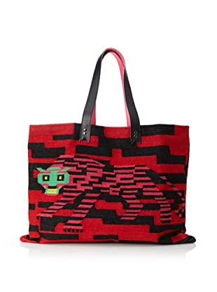 Meredith Wendell Women's Digi Tiger Tote, Red