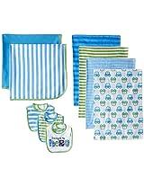 Gerber Baby-Boys Newborn Cars 9 Piece Feeding Essential Gift Set