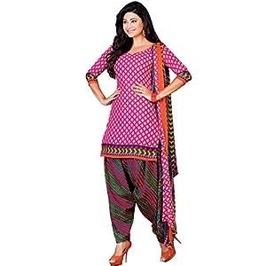 Ethnica Arts Patiyala Bottom Style Pink Salwar Suit Material