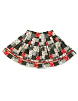 Nauti Nati Orange Patchwork Print Skirt Naw12-178