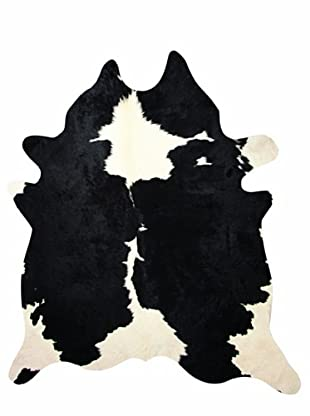 Natural Brand Kobe Cowhide Rug, Black & White, 6' x 7'