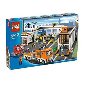 レゴシティシリーズか自動車修理工場#7642の外箱写真