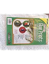 Beacon Holiday Glue Prints Double Sided Sticky Shapes Christmas Stocking, Tree, Star, Light Bulb