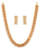 Touchstone Gold Plated artistic Necklace Set FGNSA022-01A--Y