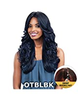 """Free Tress Equal 4"""" Deep Invisible Part Lace Front Wig Mackenzie (1 B Off Black)"""