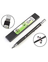 Baile 2.0mm Mechanical Auto Pencil + Lead Box (5 Leads) - Body Color Black