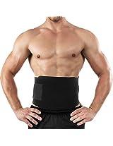 Black Men Waist Body Shaper Tummy Slimming Belt Burn Fat Weight Loss Underwear (Color: Black)