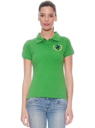 Polo Club Polo manga corta Custom Fit Logo (Verde)